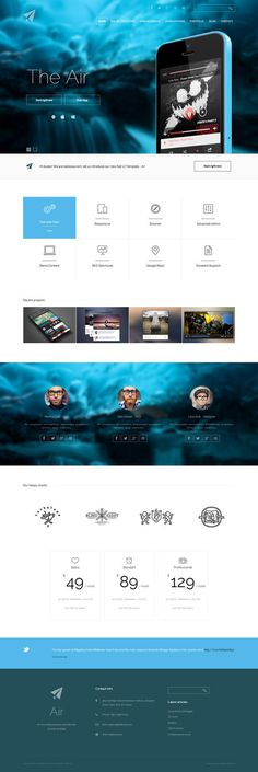 blue, concept, layout #simple #website #concept #joomla #minimal #blue #layout