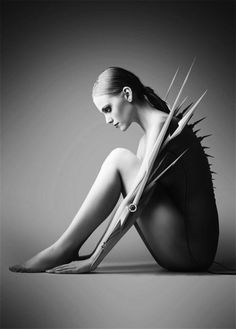 http://bobbyw.org/images/spikes.jpg #woman #extension