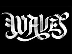 Erik_marinovich_waves #typography #texture #black and white #waves