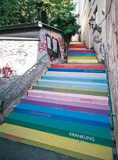 _arch02.jpg (442×600) #stairs #color #steps #typography