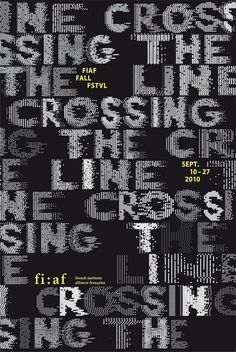 Crossing the line #type #illustration #lettering #poster
