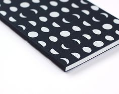 Screen printed moon notebook by Worthwhile Paper in Michigan. #notebook #celestial #lunar