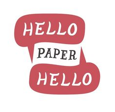 All sizes | Hello Hello Paper logo | Flickr - Photo Sharing! #typography #paper #hello