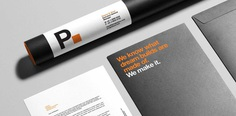 PROGENEUS BRANDING #branding #design #inspiration #minimal #orange #black #handlebranding #stationery #graphicdesign