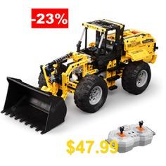 CaDA #C51058 #491pcs #Blocks #Building #Assembled #Wheel #Loader #Bulldozer #Excavator #RC #Car #for #Kids #Gift