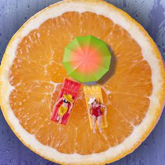 william-kass-2 #photography #miniature world #scale #miniature #food #orange