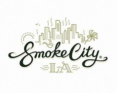 smoke city LA #logo #logotype #branding #typography