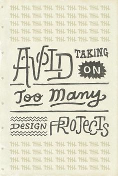 ¯(ツ)/¯ - typeverything: Typeverything.com - Avoid taking... #busy #lettering #design #projects #drawn #numbers #type #hand #tally
