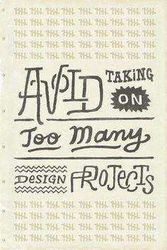 ¯(ツ)/¯ - typeverything: Typeverything.com - Avoid taking... #busy #lettering #design #projects #drawn #numbers #type #hand #tally