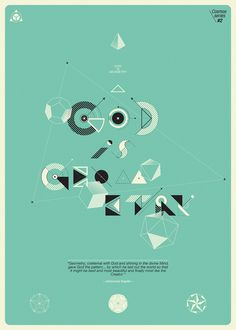 God is Geometry, by Matías Petroli #inspiration #creative #geometry #design #graphic #poster #god