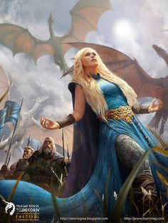 A Song Of Ice And Fire Mother of Dragonsfanart by *alexnegrea on deviantART #daenerys #dragons #of #targaryen #fan #digital #illustration #asoiaf #painting #art #game #mother #thrones