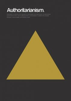 Major Movements in Philosophy as Minimalist Geometric Graphics | Brain Pickings #authoritarianism #poster