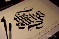 Calligraphica: Photo #tattoo