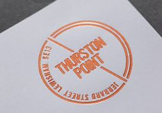 Thurston Point We recently worked with London & Quadrant housing association to create the name and identity for their most recent developme #stamp #modern #property #gold #foil