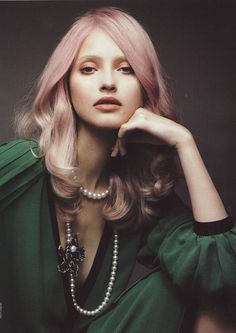 (via herblinks) #woman #pink #photo #hair #portrait
