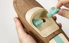 Miniature Wooden Toy Boats_2