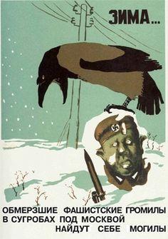 Russian WWII Propaganda Posters #ii #war #russian #poster