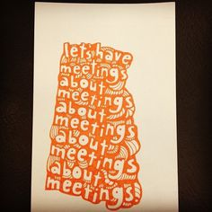 notes from meetings. #drawn #hand #meetings #typography