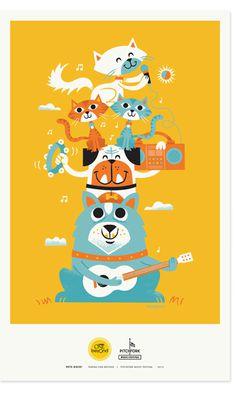 Zeus Jones - Purina ONE beyOnd - Pitchfork - Tad Carpenter #illustration #poster