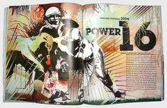ESPN Mag College Fball - NoPattern Studio / Chuck Anderson 2011 : Art, design, photography, creative direction. #screenprint
