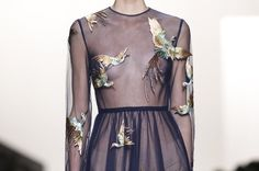 Valentino f/w 2014 #woman #birds #transparent #valentino #fashion