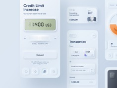 Skeuomorphism / Neumorphism UI Trend- SKEUOMORPH MOBILE BANKING | CONTINUATION BY ALEXANDER PLYUTO