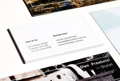 duo d uo | creative studio | Hart & Co. – branding #embossing #comp #business #branding #verko #publication #identity #collateral #cards