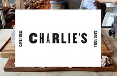 Charlies - DAVID TORR #print #cafe #identity #promo #logo #web #typography