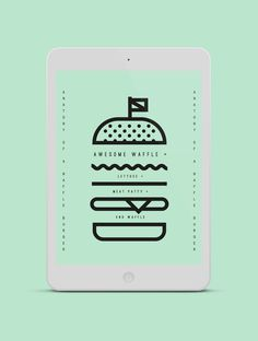 PIK NIK #illustration #minimal #burger #damn son