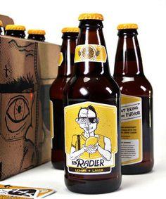 Zip Brew Co. Packaging #packaging #beer #label #bottle