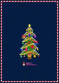 pixel Christmas Tree #christmas #tree #pixel #8bit