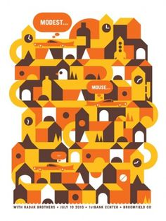 GigPosters.com - Modest Mouse - Radar Brothers #design #illustration #gig #poster