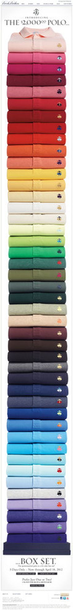 Brook Brothers Polos #brooksbros #colors #polo