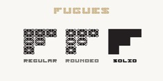 Fugues typeface (font) designed by Thoma Kikis. Teknike.com - #fugues #typeface #font #kikis #thomakikis #stencil #solid #sans #capitals #caps #lettering #greek #latin #teknike