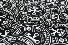 Halftonedef #illustration #sticker #branding