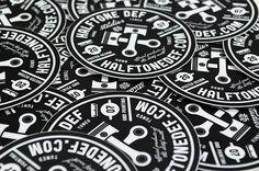 Halftonedef #illustration #sticker #branding