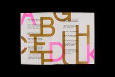 The Interpreted Typeface - Luke Dodridge #publication #book #typography #design #poster #zine #pink #neon #type #typeface #gold