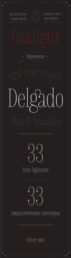 Delgado font on Typography Served