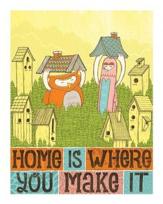 For Me its Love Home is Where You Make it by Jolby on Etsy #scribble