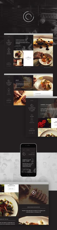 Website design for Chefs Club NYC #restaurant #website #grid #york #new