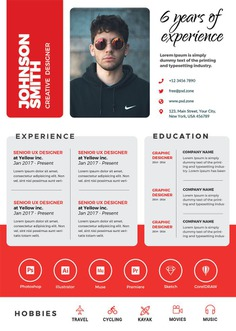 Free Resume Template in A4 Paper Size
