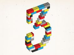 Friends of Type – Jason Wong – 3 #lettering #illustration #numerals #legos