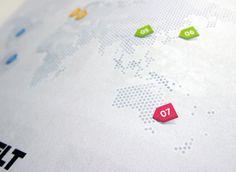 Magazine Infographics on the Behance Network #map #editorial #info #graphics #hexagon