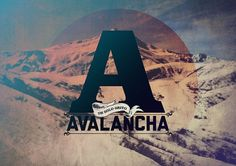AVALANCHA #avalancha #design #graphic #zarate #poster #pablo #typography