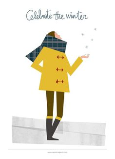 veronica grech - Celebrate the winter #illustration #cold #winter