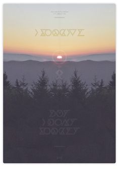 Feel Better - Hadrien Degay Delpeuch #vector #minimal #poster #sunrise #forget #forest #paper #typography