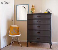 before & after: refinished dresser + card catalog | Design*Sponge #interior