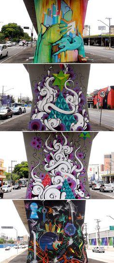 mus3 #graffiti #street art #tentacles