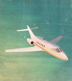 The Search #water #flight #mind #travel #jet #sea #plane #vintage #painting #mood #blue #sunset