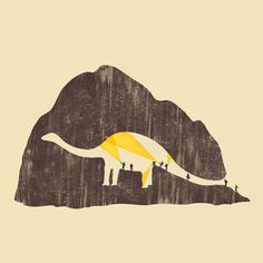 The Art of Negative Space. on the Behance Network #negative #dinosaur #illustration #space
